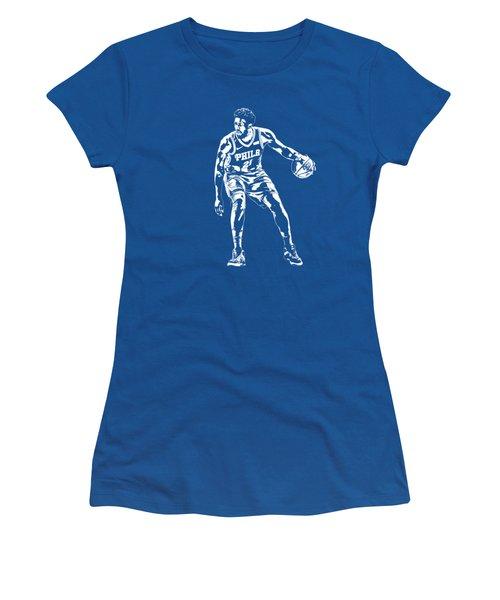 Joel Embiid Philadelphia 76ers T Shirt Apparel Pixel Art 2 Women's T-Shirt