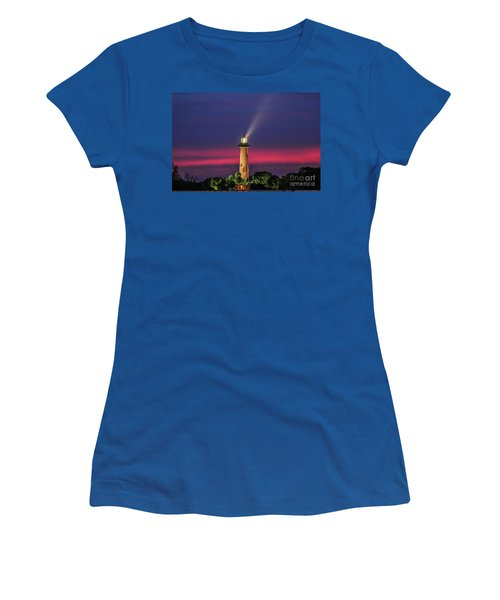 Women's T-Shirt featuring the photograph Jupiter Light Beam by Tom Claud