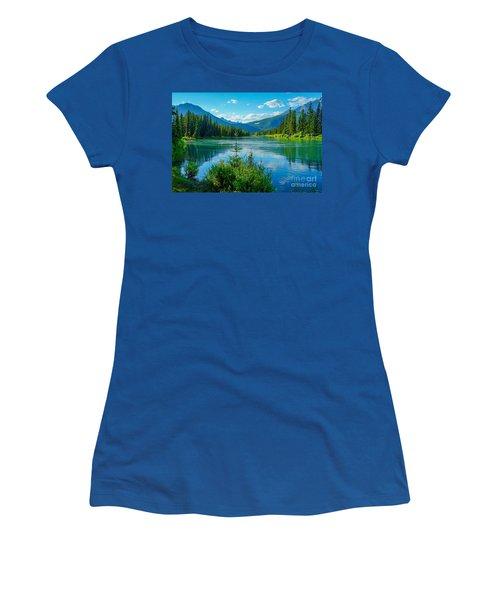 Lake At Banff Indian Trading Post Women's T-Shirt