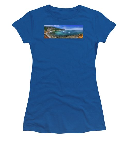 Marine Layer Over Bluff Cove Panorama Women's T-Shirt