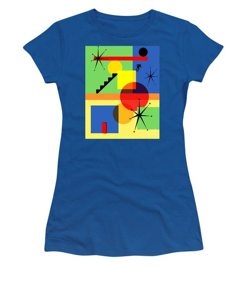 Mid Century Modern Abstract Over The Edge 20190106 Women's T-Shirt