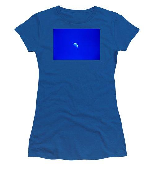Moon In A Daytime Sky Women's T-Shirt