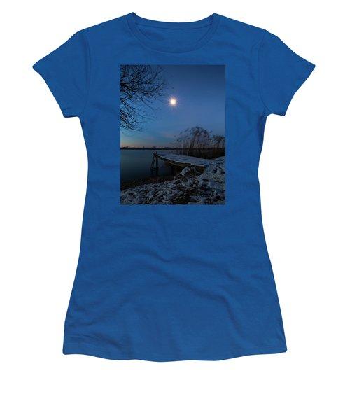 Moonlight Over The Lake Women's T-Shirt