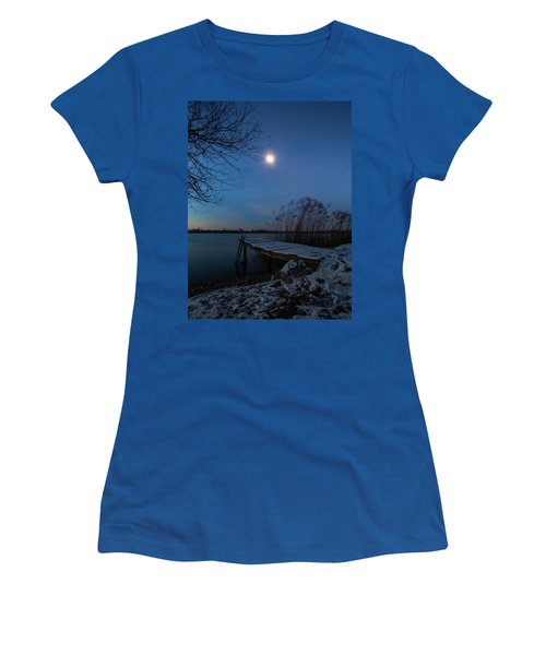 Moonlight Over The Lake Women's T-Shirt