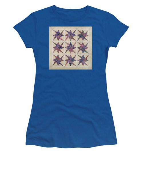 Nine Stars Dipping Their Toes In The Sea Sending Ripples To The Shore Women's T-Shirt