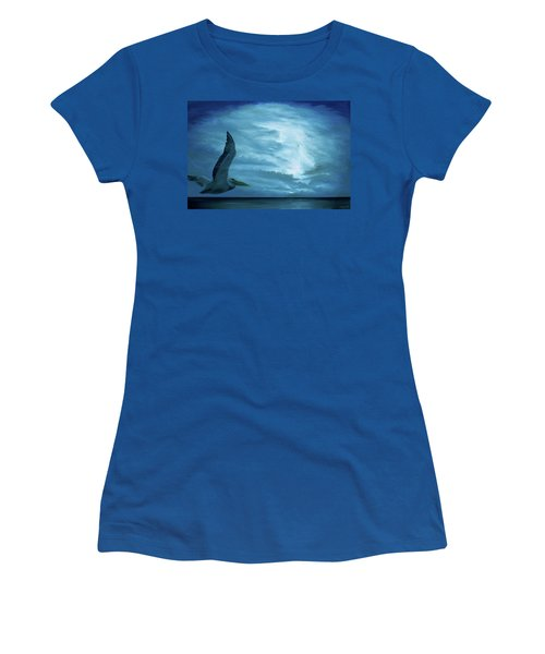 Women's T-Shirt featuring the painting Out Of The Blue by Kevin Daly