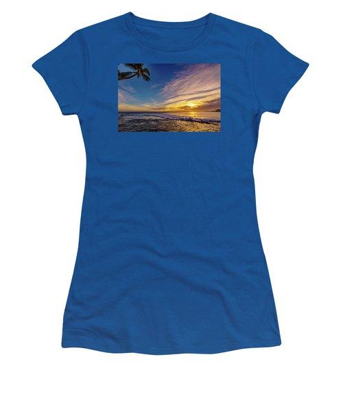 Palm Wave Sunset Women's T-Shirt