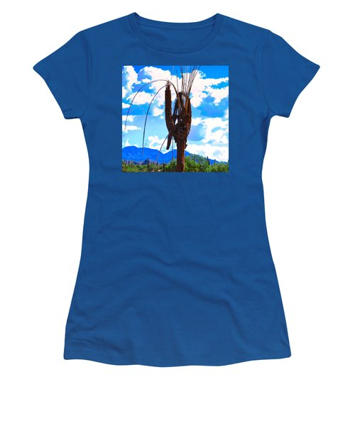Women's T-Shirt featuring the photograph Poor Pretty Saguaro by Judy Kennedy