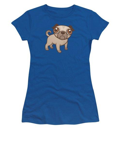 Pug Puppy Cartoon Women's T-Shirt