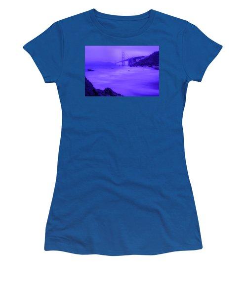 Purple Golden Gate Fog Women's T-Shirt