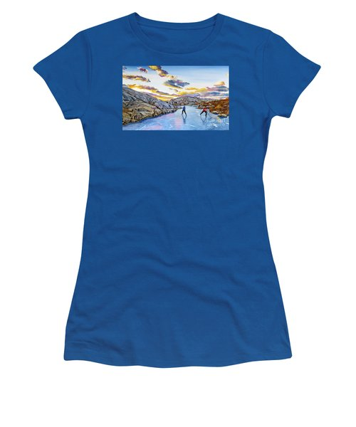 Shinny At Rock Pool Pond Women's T-Shirt