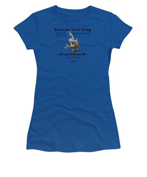 Sierran Tree Frog Pseudacris Sierra Women's T-Shirt