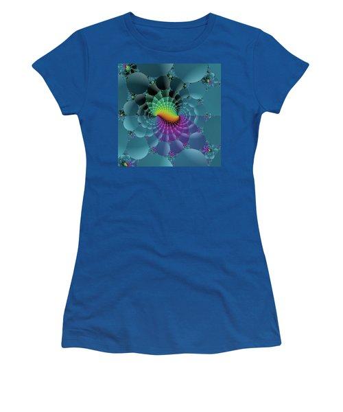 Slate Blue Fractal Women's T-Shirt