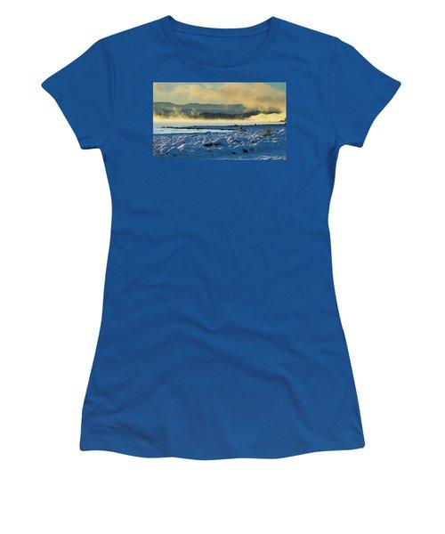 Snowy Shoreline Sunrise Women's T-Shirt