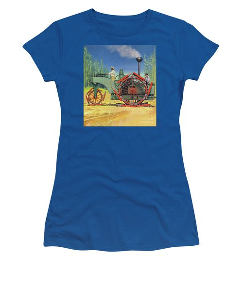 Steam Traction Engine Created To Work In The Sugar Plantations Of Cuba Women's T-Shirt