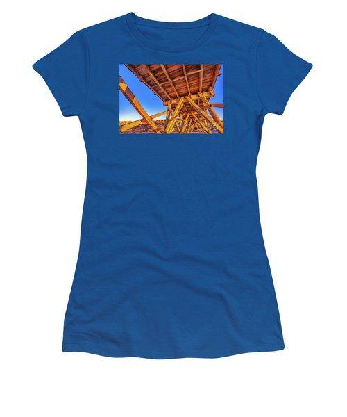 Sunrise Under The Sea Cabin Pier  Women's T-Shirt