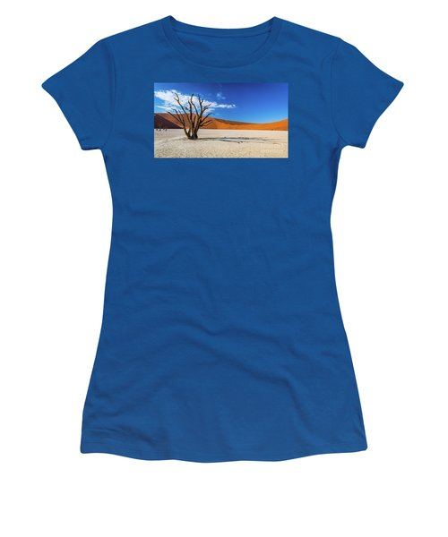 Tree And Shadow In Deadvlei, Namibia Women's T-Shirt