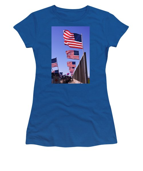 U.s. Flags, Presidents Day, Central Valley, California Women's T-Shirt