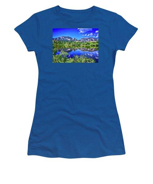 Women's T-Shirt featuring the photograph Viele Lake 2 by Dan Miller