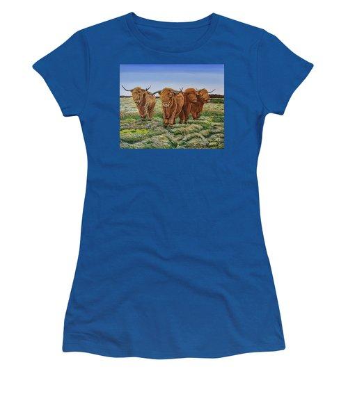 Windswept Highland Cattle  Women's T-Shirt