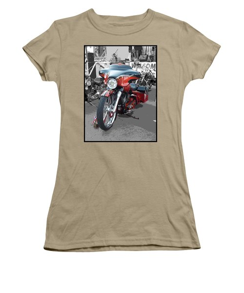 Women's T-Shirt (Junior Cut) featuring the photograph American Heat - Palm Springs by Glenn McCarthy Art and Photography