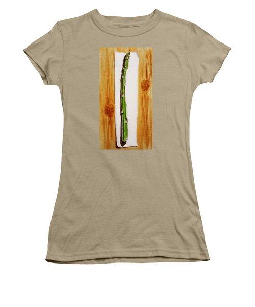 Asparagus Tasty Botanical Study Women's T-Shirt (Junior Cut) by Irina Sztukowski