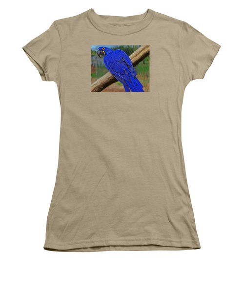 Women's T-Shirt (Junior Cut) featuring the photograph Blue Parrot by Jack Moskovita