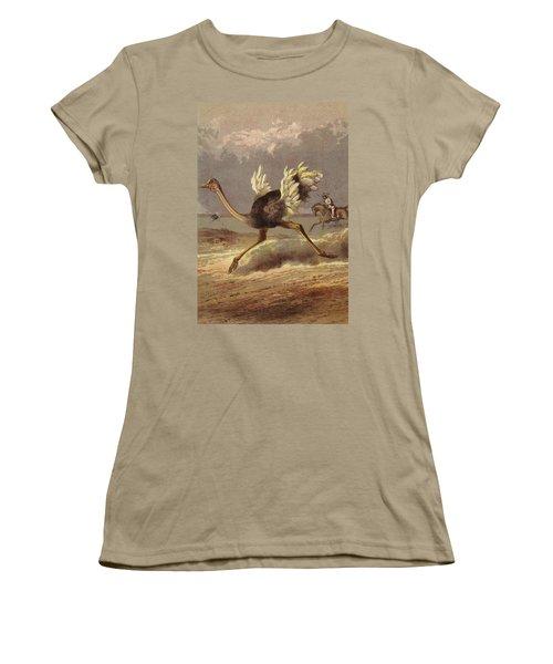 Chasing The Ostrich Women's T-Shirt (Junior Cut) by English School