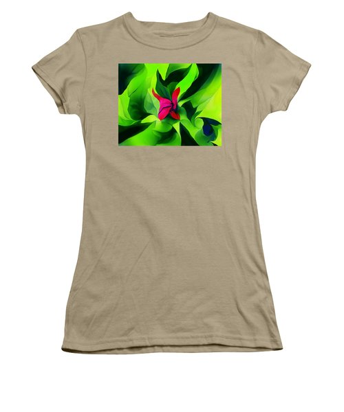 Women's T-Shirt (Junior Cut) featuring the digital art Floral Abstract Play by David Lane