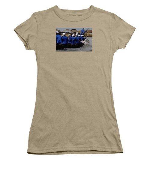 Women's T-Shirt (Junior Cut) featuring the photograph Ganvie - Lake Nokoue by Travel Pics