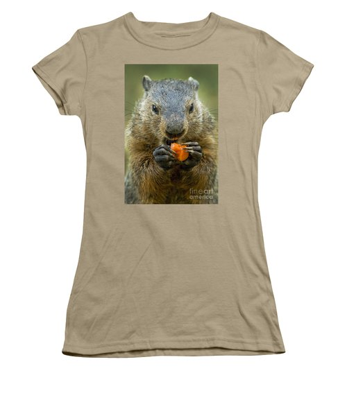 Groundhogs Favorite Snack Women's T-Shirt (Junior Cut) by Paul W Faust -  Impressions of Light