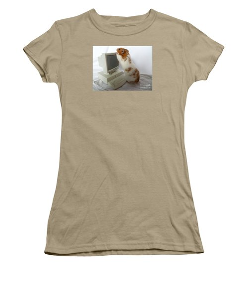 Women's T-Shirt (Junior Cut) featuring the photograph How Do You Switch On This Screen? by Vicki Spindler