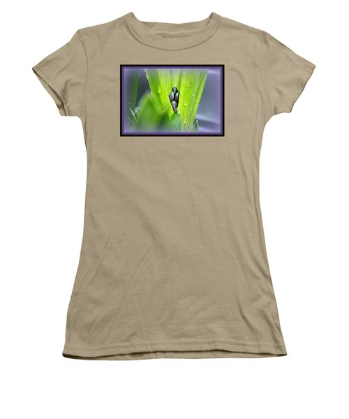 Women's T-Shirt (Junior Cut) featuring the photograph Hyacinth For Micah by Katie Wing Vigil