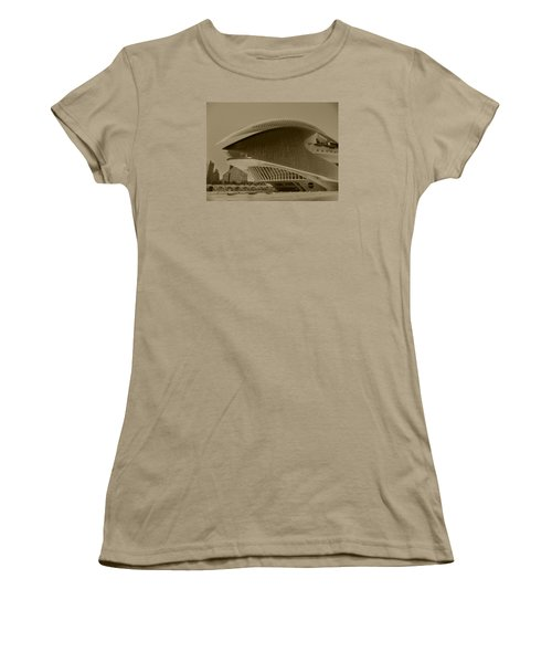 Women's T-Shirt (Junior Cut) featuring the photograph L' Hemisferic - Valencia by Juergen Weiss
