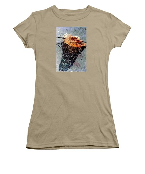 Women's T-Shirt (Junior Cut) featuring the photograph Leaf Lace In New Orleans Louisiana by Michael Hoard