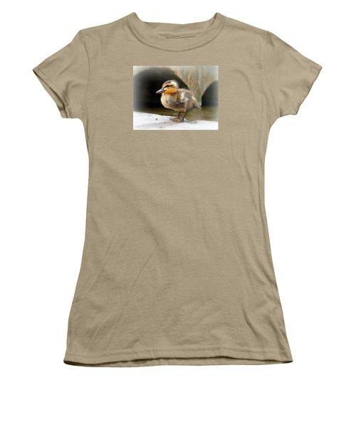 Women's T-Shirt (Junior Cut) featuring the photograph Little Quack by Morag Bates