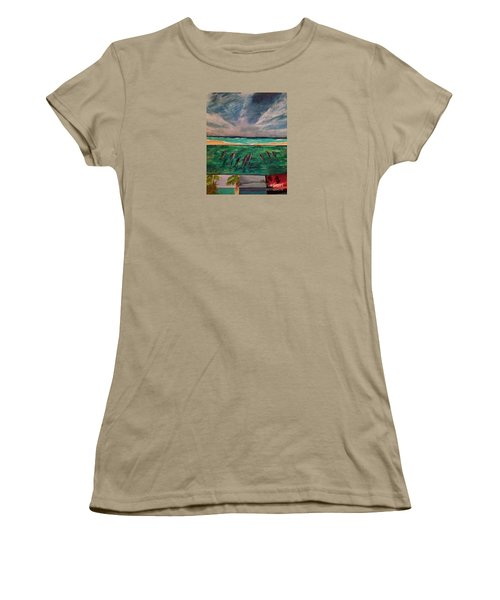 Women's T-Shirt (Junior Cut) featuring the painting Delfin by Vanessa Palomino