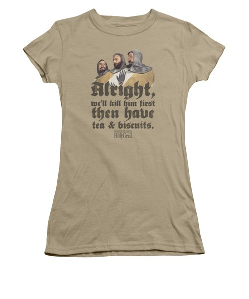 Monty Python - Tea And Biscuits Women's T-Shirt (Junior Cut) by Brand A