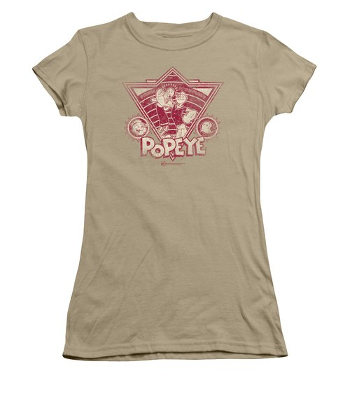 Popeye - Strong To The Finish Vintage Women's T-Shirt (Junior Cut) by Brand A