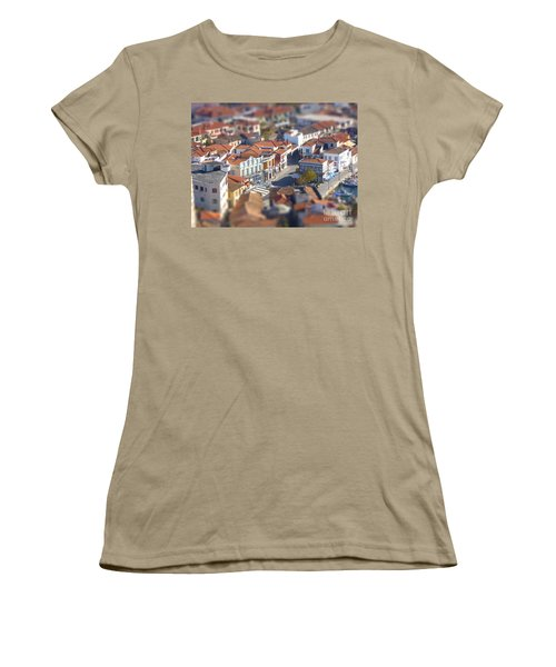 Women's T-Shirt (Junior Cut) featuring the photograph Rooftops by Vicki Spindler