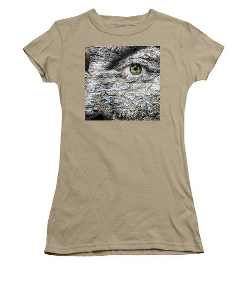 Stone Face Women's T-Shirt (Junior Cut) by Semmick Photo