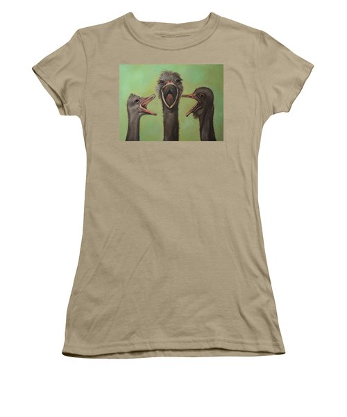 The 3 Tenors Women's T-Shirt (Junior Cut) by Leah Saulnier The Painting Maniac