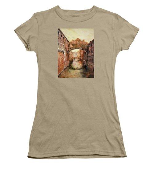 The Bridge Of Sighs Venice Italy Women's T-Shirt (Junior Cut) by Jean Walker