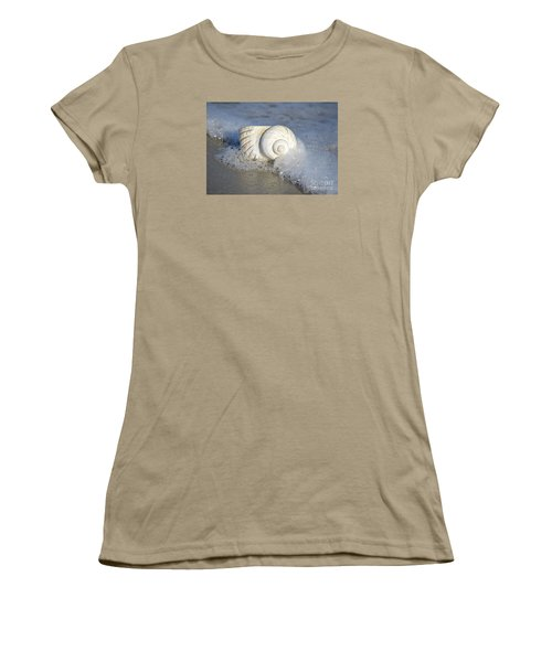 Women's T-Shirt (Junior Cut) featuring the photograph Worn By The Sea by Kathy Baccari