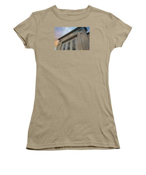 Yankee Stadium Women's T-Shirt (Junior Cut) by Stephen Stookey