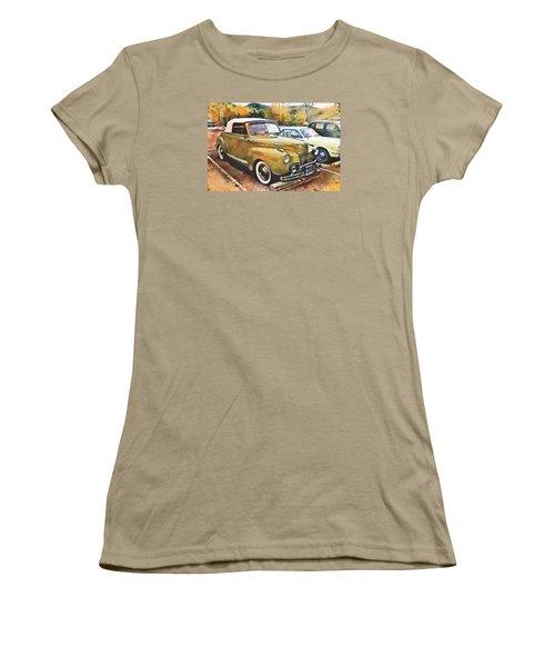 Women's T-Shirt (Junior Cut) featuring the digital art Antique Car  by Mary Almond