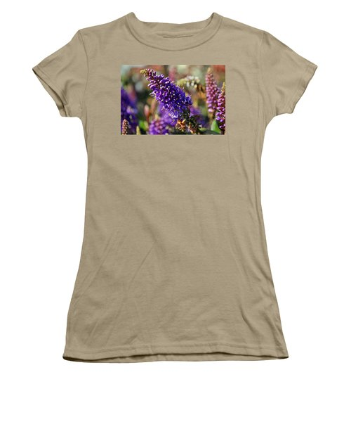 Women's T-Shirt (Junior Cut) featuring the photograph Blue Brush Bloom by Tikvah's Hope