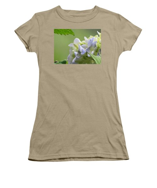 Women's T-Shirt (Junior Cut) featuring the photograph Hydrangea Blossom by Katie Wing Vigil