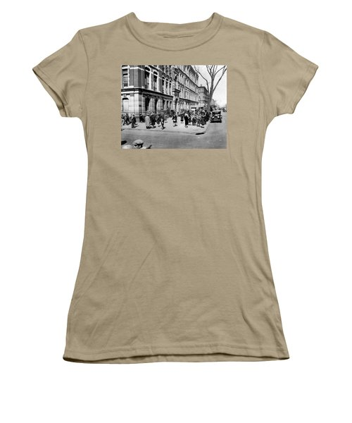 School's Out In Harlem Women's T-Shirt (Junior Cut) by Underwood Archives