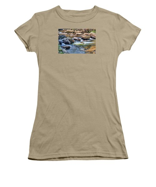 Women's T-Shirt (Junior Cut) featuring the digital art Trout Stream by Mary Almond
